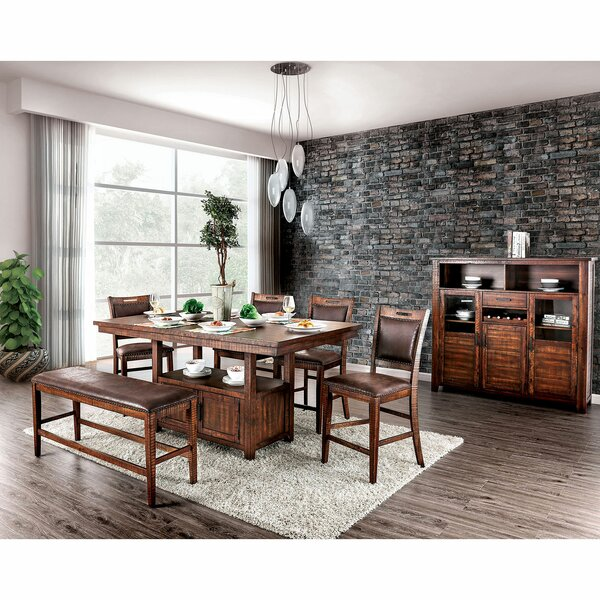Ryant 6 Piece Counter Height Solid Wood Dining Set by Millwood Pines