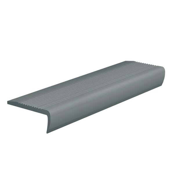 0.13 x 108 x 4 Stair Nose in Dark Gray by ROPPE