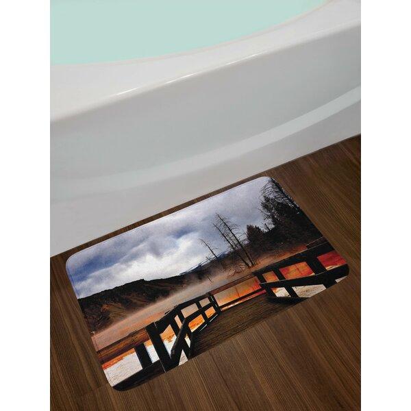 Orange Brown Yellowstone Bath Rug by East Urban Home