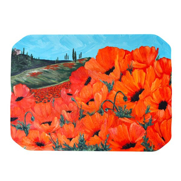 Poppies Placemat by KESS InHouse