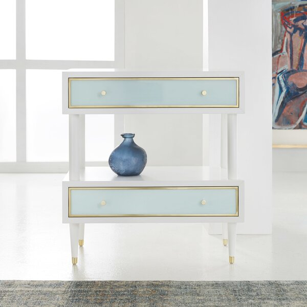 2 Drawer Nightstand by Modern History Home