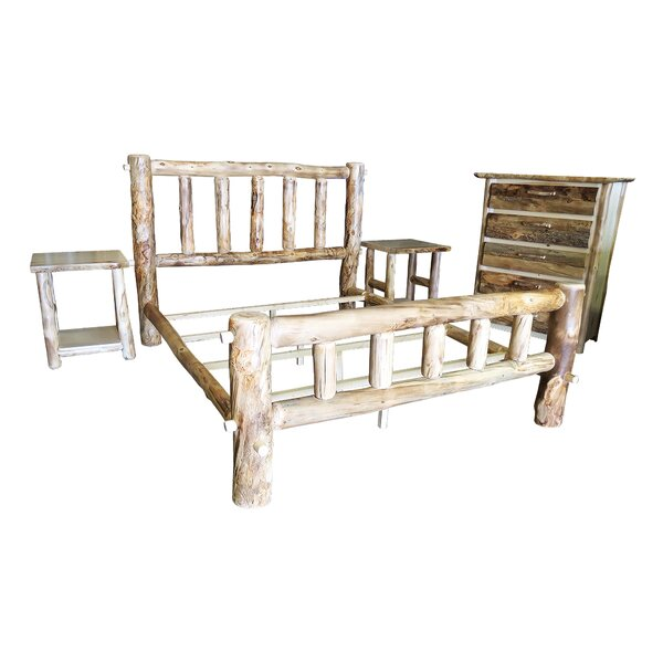 Rustic Arts® Platform 3 Piece Bedroom Set by Mountain Woods Furniture
