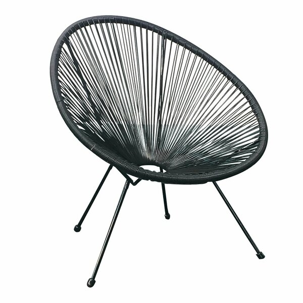 West Wick Woven Basket Patio Chair by Bungalow Rose