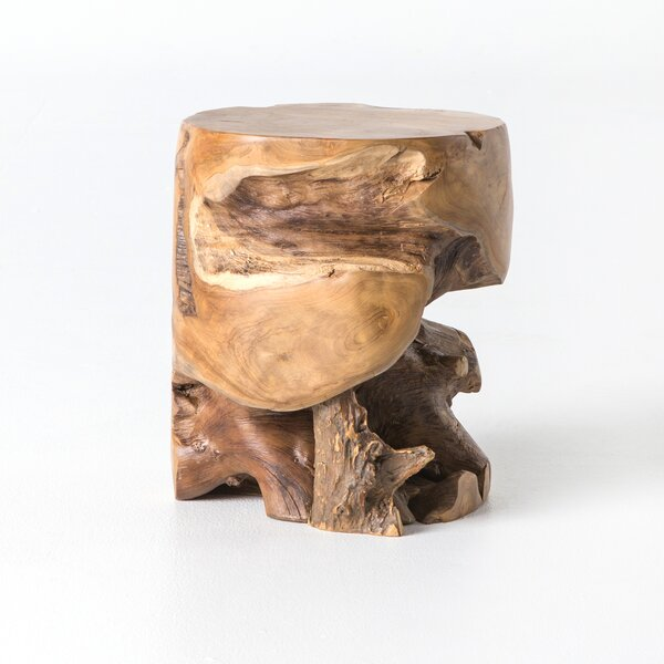 Atrakchi Teak Accent Stool by Foundry Select