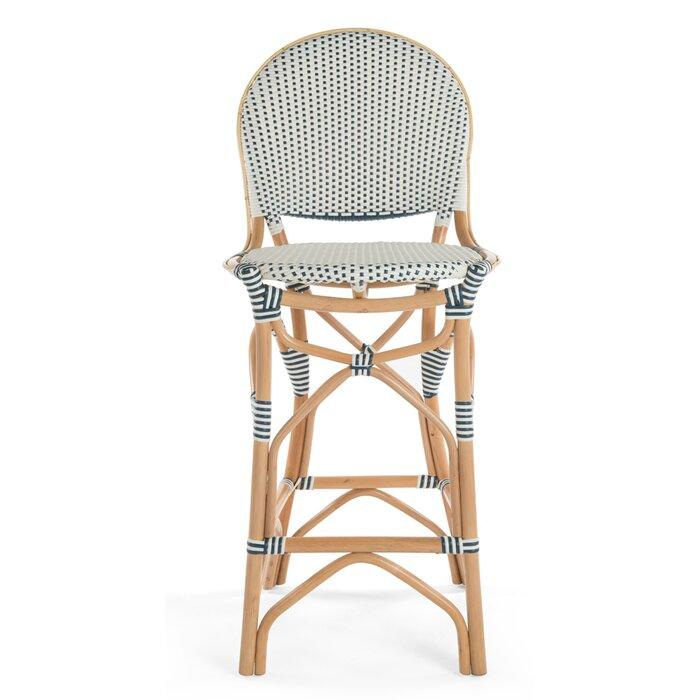 Admirable Tawanna Rattan Bar Stool Inzonedesignstudio Interior Chair Design Inzonedesignstudiocom