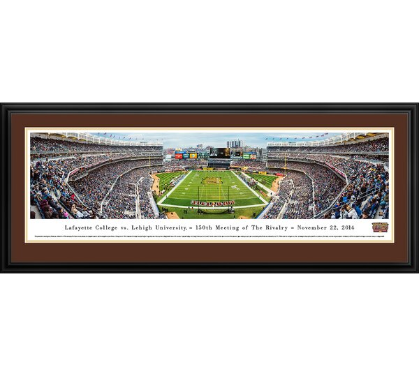 NCAA Lafayette Vs. Lehigh - 150Th, Lehigh by James Blakeway Framed Photographic Print by Blakeway Worldwide Panoramas, Inc