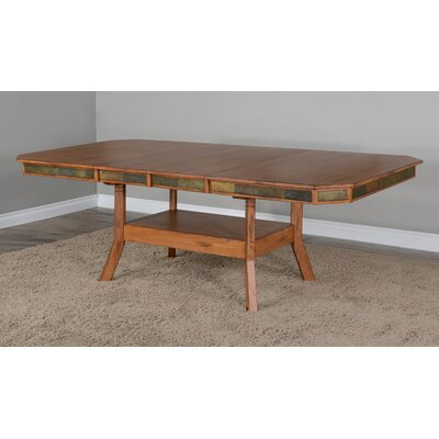 Loon Peak Hearns Counter Height Extendable Dining Table  Color: Rustic Oak