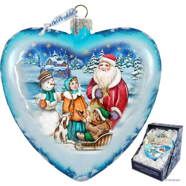 Limited Edition Trip Glass Heart Ornament by The Holiday Aisle