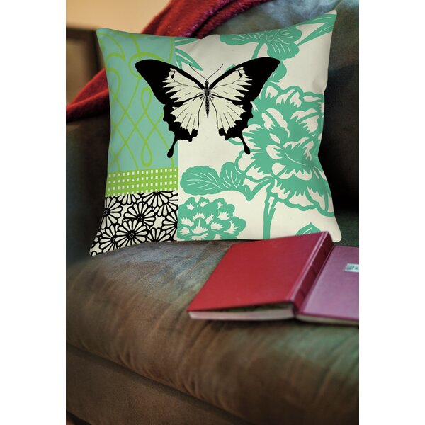 Butterfly Journey 1 Printed Throw Pillow by Manual Woodworkers & Weavers
