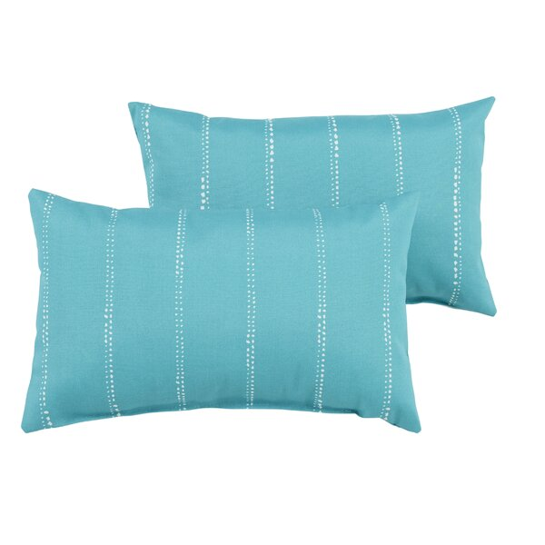 Balentine Striped Indoor/Outdoor Lumbar Pillow (Set of 2) by Wade Logan