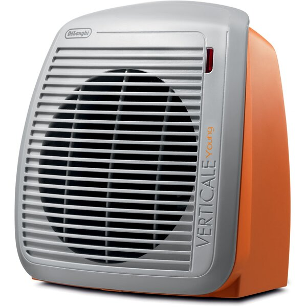 1,500 Watt Portable Electric Fan Compact Heater with Adjustable Thermostat by DeLonghi