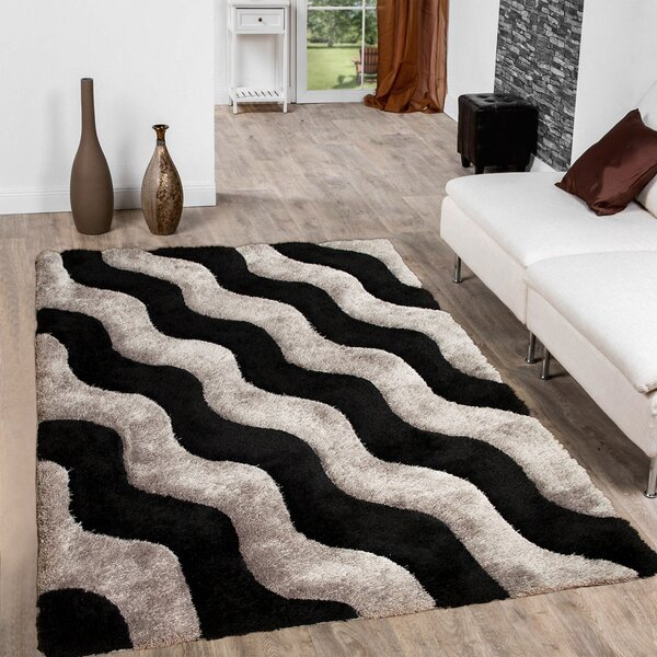Hand-Tufted Black/gray Area Rug By Allstar Rugs.