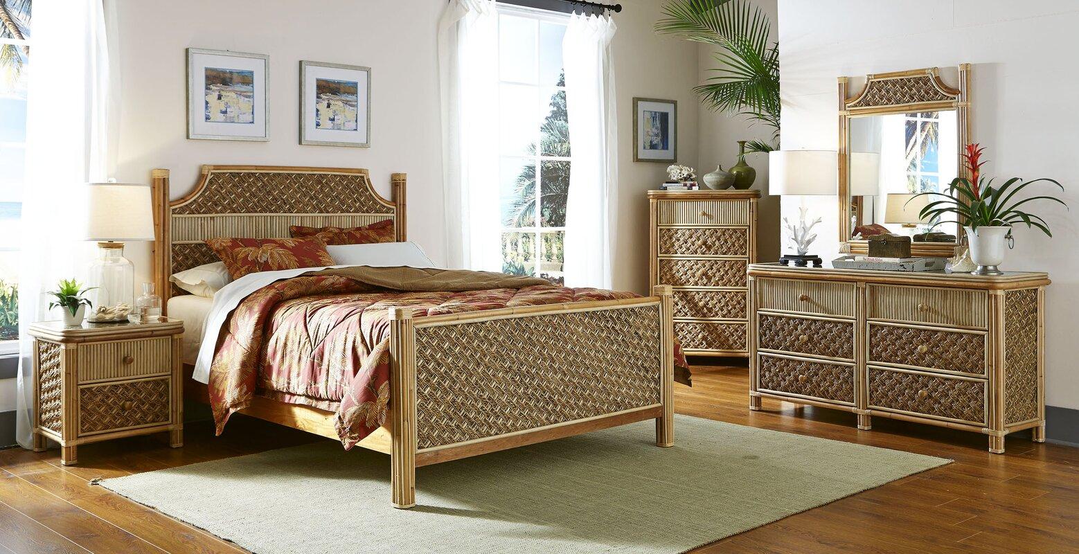 Spice Islands Mandalay Panel 5 Piece Bedroom Set & Reviews | Wayfair