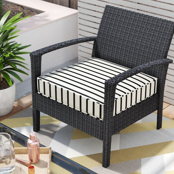 Outdoor Sunbrella Dining Chair Cushion by Mercury Row