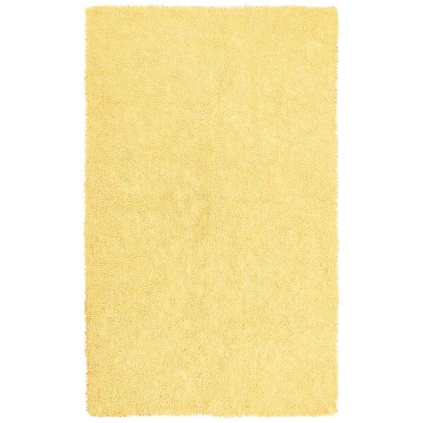 Baugh Shag Chenille Yellow Area Rug by Ebern Designs