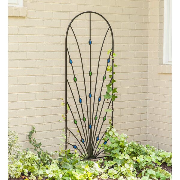 Peacock Garden Metal Arched Trellis by Plow & Hearth