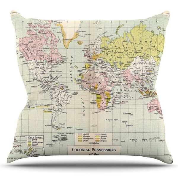 Travel by Catherine Holcombe Outdoor Throw Pillow by East Urban Home