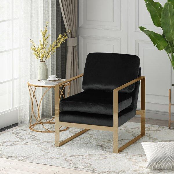 Progreso Modern Glam Armchair by Everly Quinn