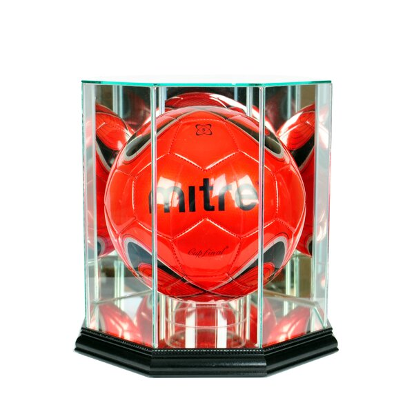 Octagon Soccer Ball Display Case by Perfect Cases and Frames