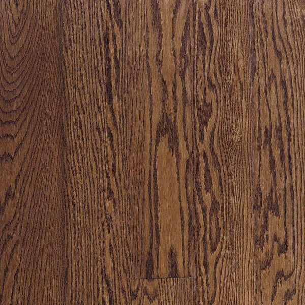 Fulton 2-1/4 Solid Red / White Oak Hardwood Flooring in Low Glossy Saddle by Bruce Flooring