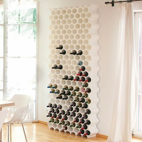 8 Bottle Floor Wine Rack by Koziol