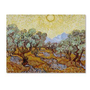 Olive Trees 1889 by Vincent van Gogh Painting Print on Wrapped Canvas by Trademark Fine Art