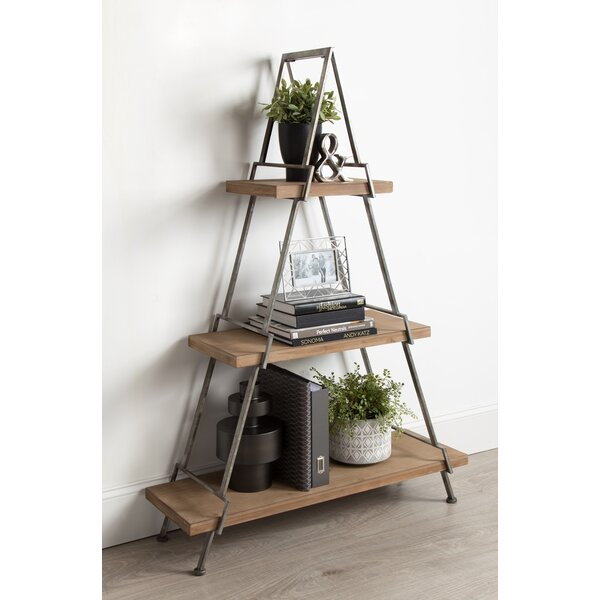 Kelly Free-Standing 3 Tiered Standard Bookcase by Union Rustic