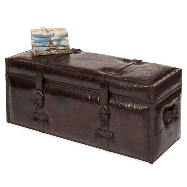 Moorhouse Trunk Leather Storage Bench by Astoria Grand