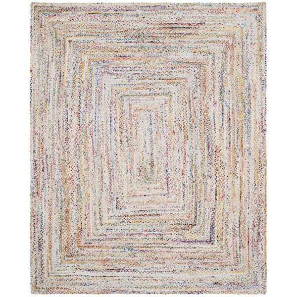 Hurst Hand-Woven Cotton Ivory Area Rug by Bungalow Rose