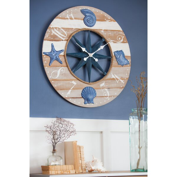 Alessio Coastal Wood 3.2 Wall Clock by Highland Dunes