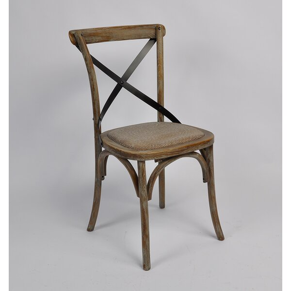 Clary Cross Back Weathered Dining Chair by Gracie Oaks