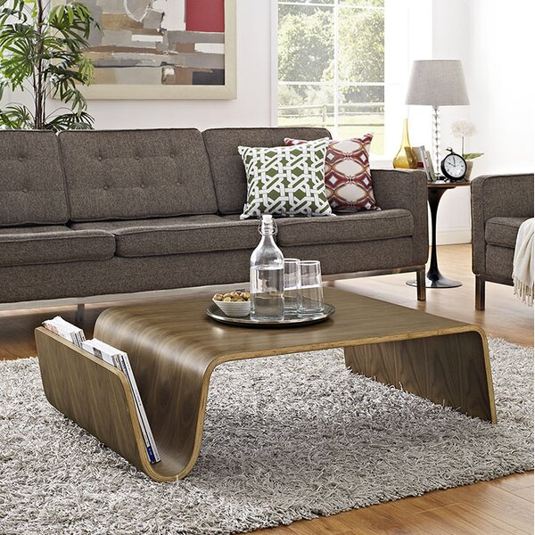 Matz Coffee Table with Magazine Rack by George Oliver George Oliver