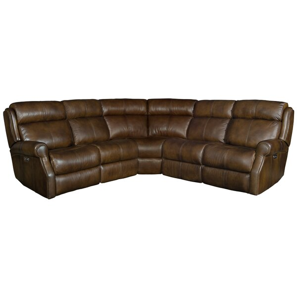 McGwire Leather Reclining Sectional by Bernhardt
