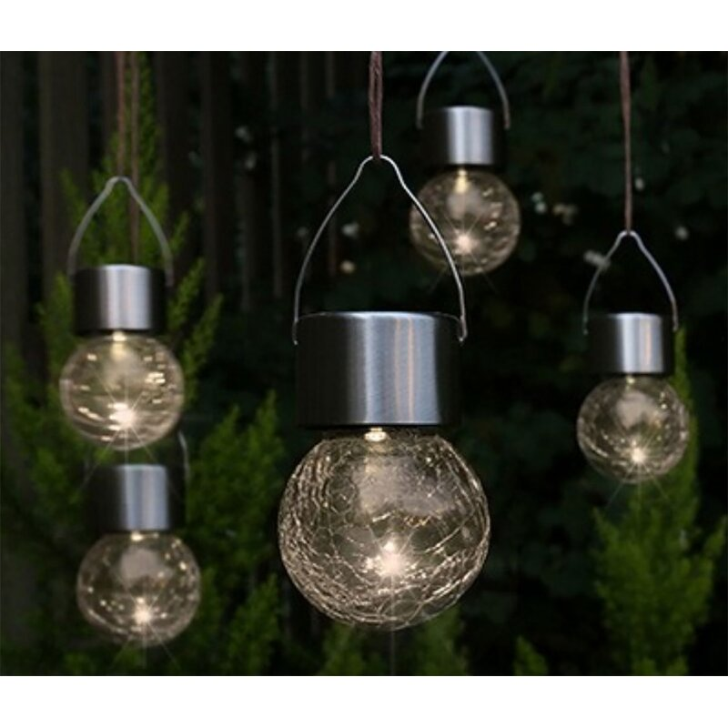5 Piece Led Hanging Solar Garden Light