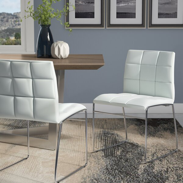 Best #1 Rockaway Nick Side Upholstered Dining Chair (Set Of 2) By Wade Logan Great price