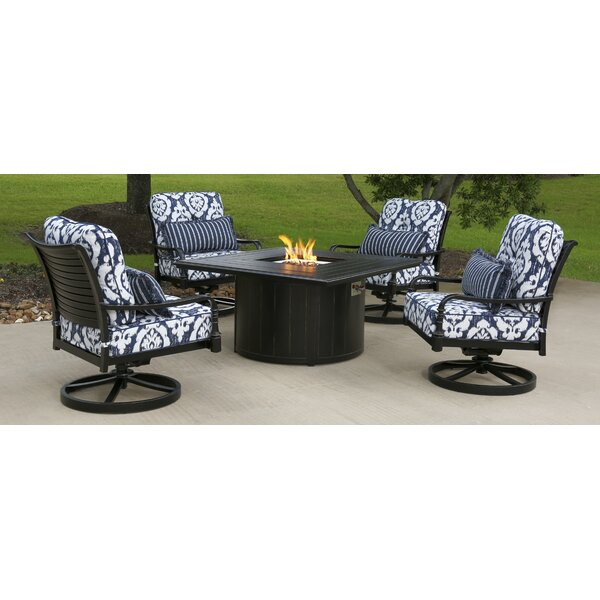 Isbrand 5 Piece Sunbrella Multiple Chairs Seating Group with Cushions by Red Barrel Studio