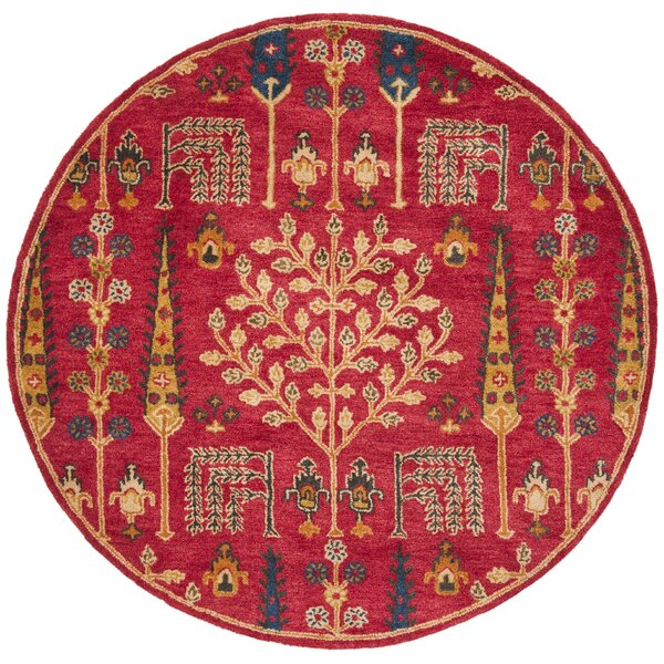 Albrightsville Hand Tufted Wool Red Area Rug by Bloomsbury Market