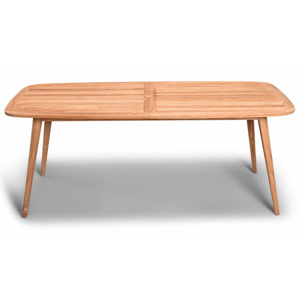 Hogue Teak Solid Wood Dining Table by Rosecliff Heights Rosecliff Heights