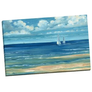 'Summerset Sailboat' Painting Print on Wrapped Canvas by Breakwater Bay