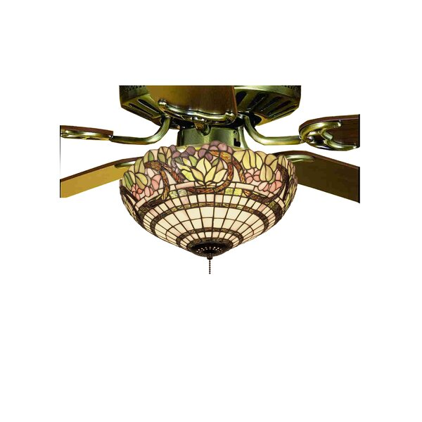 Handel Grapevine 3-Light Bowl Ceiling Fan Light Fixture by Meyda Tiffany
