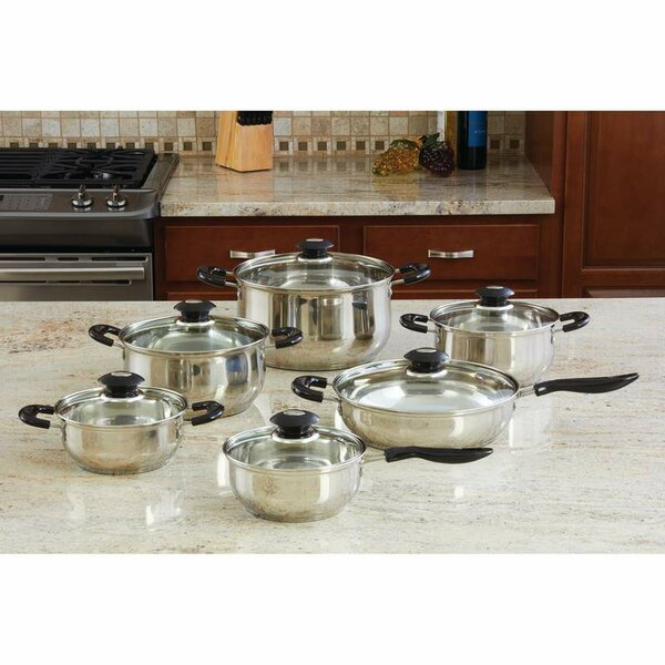 Wyndham House by Justin Wilson 12 Piece Stainless Steel Cookware Set by Chef's Secret