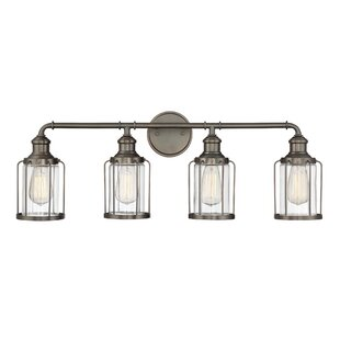 Reviews DeBary 4-Light Vanity Light By Williston Forge