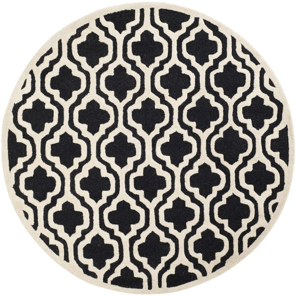Martins Black Area Rug by Wrought Studio