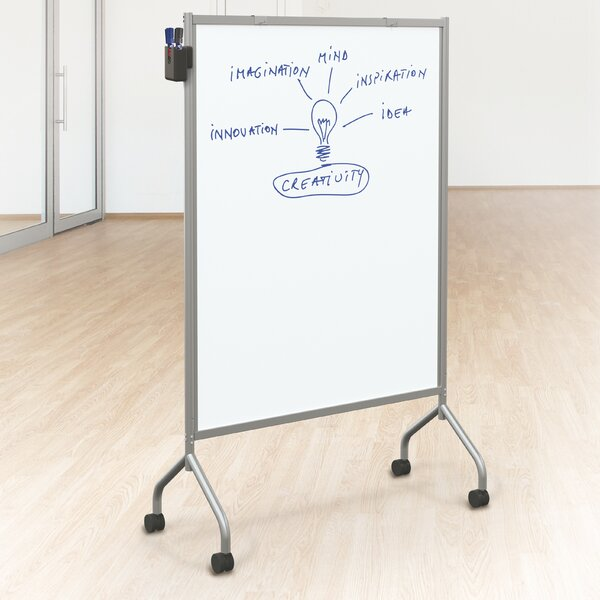 Essentials Double Sided Mobile Whiteboard, 42 x 72