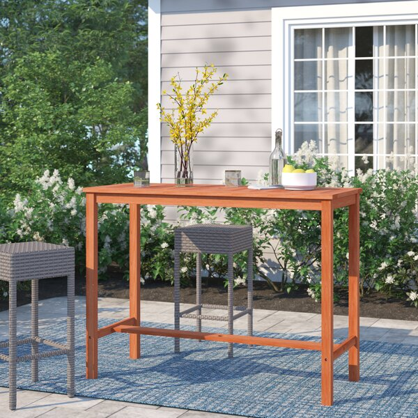 Brighton Wooden Bar Table by Sol 72 Outdoor