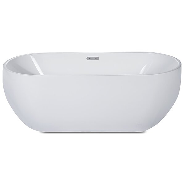 Oval Acrylic 59 x 28 Freestanding Soaking Bathtub by Alfi Brand