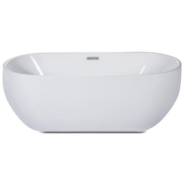 Oval Acrylic 59 x 28 Freestanding Soaking Bathtub by Alfi Brand