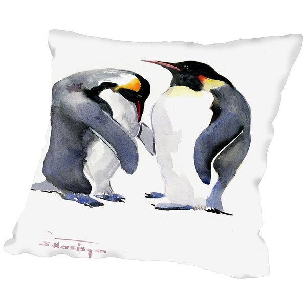 Emporer Penguins Throw Pillow by East Urban Home