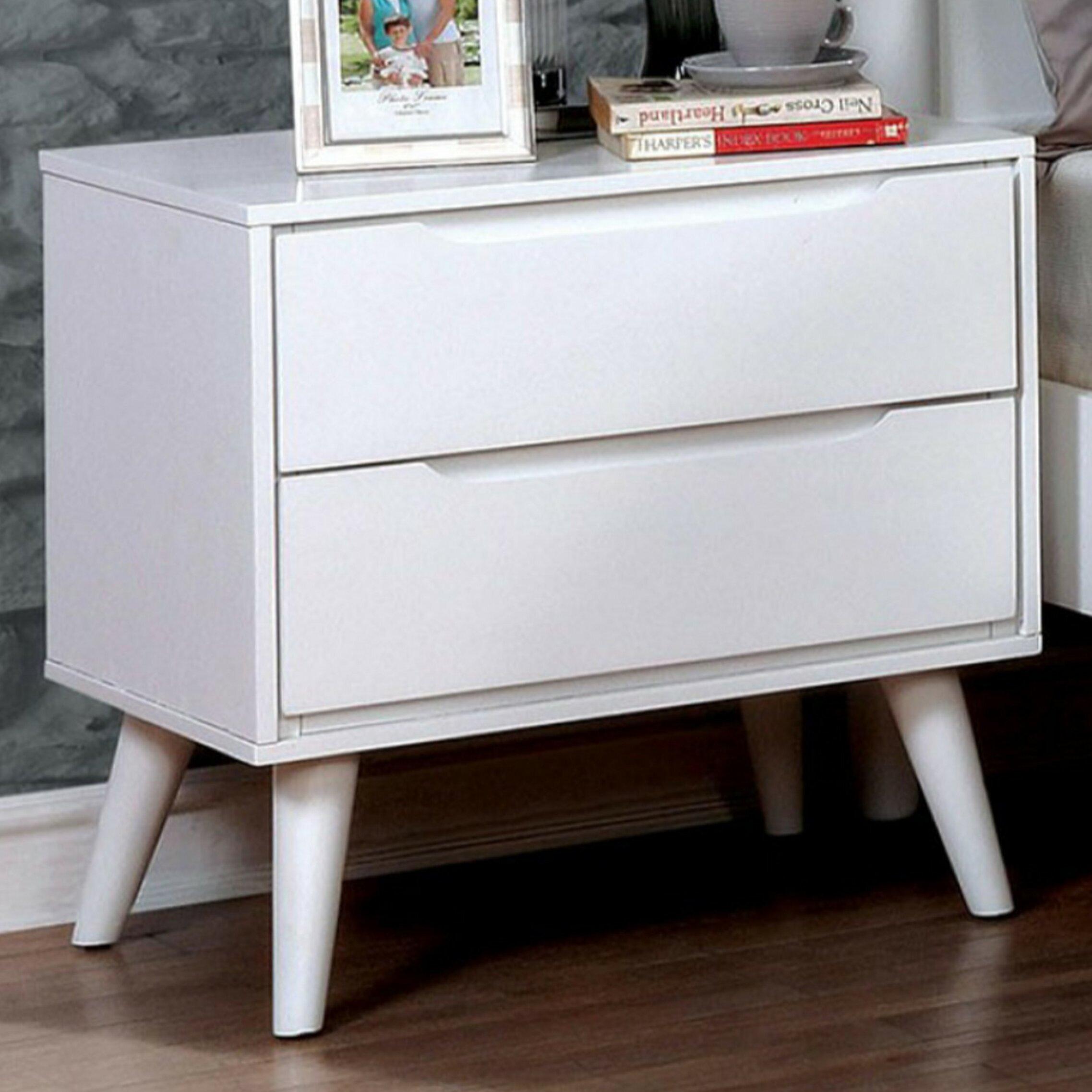 Fantastic Ian Mid Century 2 Drawer Nightstand Spiritservingveterans Wood Chair Design Ideas Spiritservingveteransorg