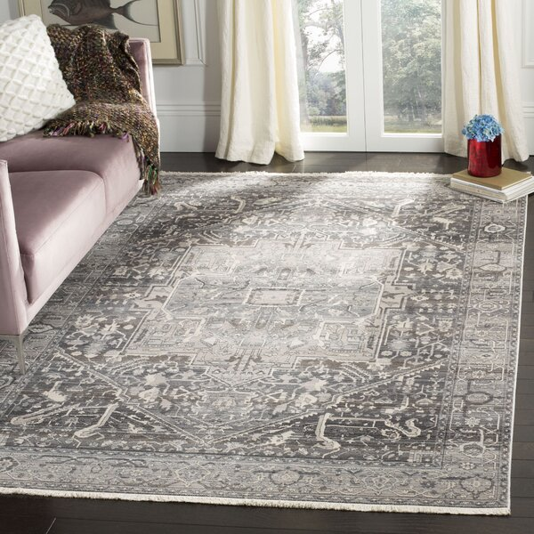 Mullens Persian Gray/Charcoal Area Rug by Bloomsbury Market